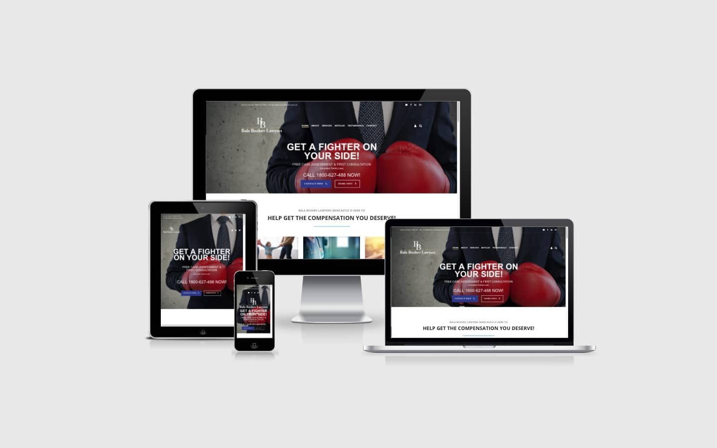 Website build for Bale Boshev Lawyers, including SEO optimisation and a blog | Newcastle Creative Co