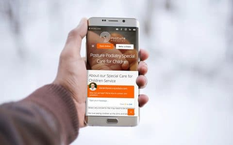 Posture Podiatry Adelaide's website as viewed on mobile. | Newcastle Creative Co