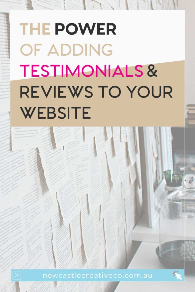 The power of adding testimonials and reviews to your website | Newcastle Creative Co